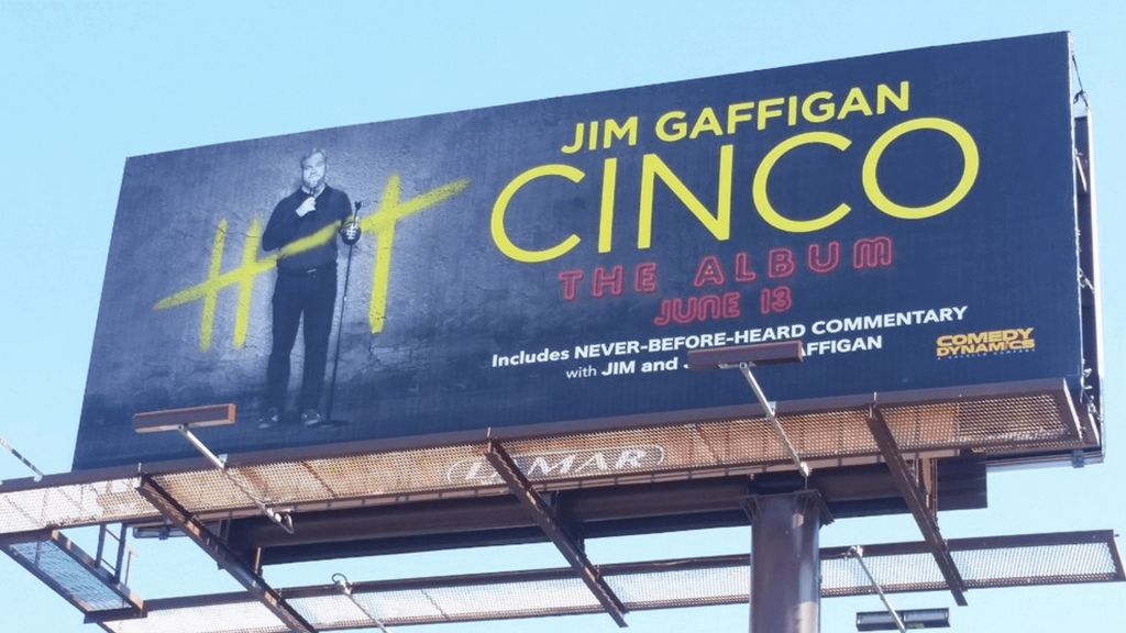 Jim Gaffigan Cinco Billboard Record Label Release
